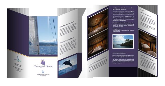print - Beirut Yacht Charter brochure
